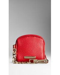 Burberry Grainy Leather Coin Purse - Lyst