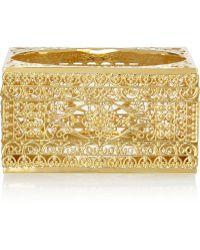 Isharya - Gold-Plated Filigree Bangle - Lyst