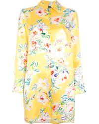 Kenzo Vintage Floral Shirt Dress - Lyst