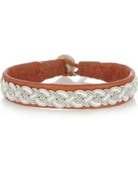 Maria Rudman - Embroidered Leather Bracelet - Lyst