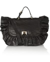 RED Valentino Ruffled Leather Shoulder Bag - Lyst