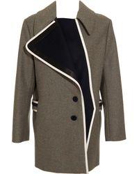 Bouchra Jarrar - Shetland Wool Coat - Lyst