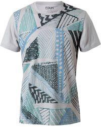 Edun Abstract Printed Cotton T-Shirt - Lyst