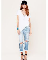 Free People | Nsf Womens Nsf Destroyed Boyfriend Jean | Lyst