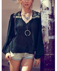 Free People Fp One Florestra Peasant Top - Lyst