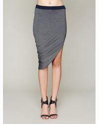 Bella Luxx Jersey Asymmetrical Drape Skirt - Lyst