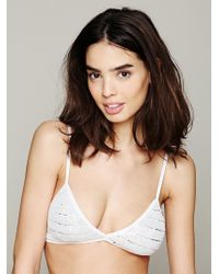 Free People Solid Sequin Mesh Bra - Lyst
