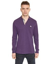 Burberry Brit Cotton Piquet Long Sleeved Polo - Lyst
