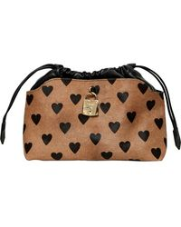 Burberry Prorsum - Small Heart Printed Ponyskin Bag - Lyst
