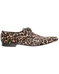 390072a52b52 Burberry Prorsum - Leopard Printed Ponyskin Lace-up Shoes - Lyst