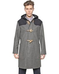 Carven - Hooded Oversized Wool Twill Duffle Coat - Lyst