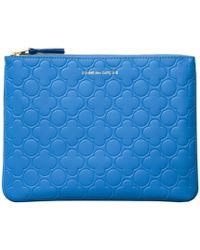 Comme des Garçons Embossed Makeup Bag in Blue - Lyst