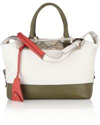 Diane von Furstenberg Drew Texturedleather Shoulder Bag - Lyst