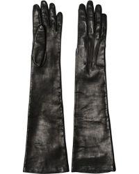 Dolce & Gabbana Nappa Leather Long Gloves - Lyst