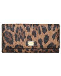Dolce & Gabbana Leopard Printed Long Wallet - Lyst