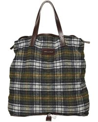 DSquared² Foldable Checked Wool Flannel Tote Bag - Lyst