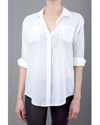 Elizabeth And James Artist Button Down White - Lyst