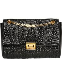 Emilio Pucci Mikonos Embossed Leather Shoulder Bag - Lyst