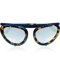 Erdem | Cat Eye Tortoiseshell Acetate and Metal Sunglasses | Lyst