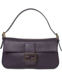 Fendi Grained Leather Baguette Bag - Lyst