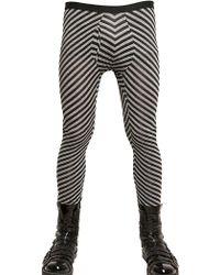 Gareth Pugh | Striped Cottonsilk Leggings | Lyst