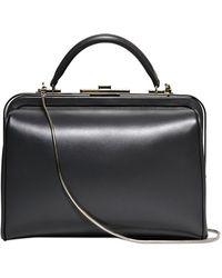 Giorgio Armani Chemist Shiny Leather Top Handle Bag - Lyst