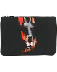 Givenchy Doberman Printed Canvas Pouch - Lyst