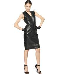 Givenchy Plonge Nappa Leather Dress - Lyst