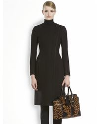 Gucci Wool Natte Asymmetrical Coat - Lyst