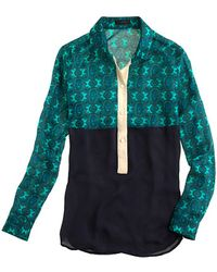 J.Crew Collection Mixed Silk Popover - Lyst