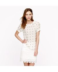 J.Crew Embroidered Voile Top - Lyst