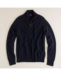J.Crew Italian Cashmere Half-Zip Sweater - Lyst