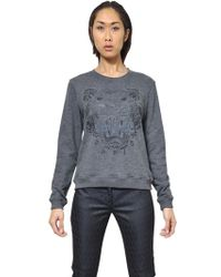 Kenzo Tiger Logo Cotton Fleece Sweatshirt - Lyst