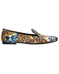 Kenzo 10mm Satin Flying Tiger Loafers - Lyst