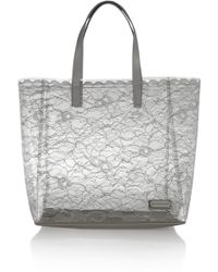 Marc By Marc Jacobs Leathertrimmed PVC and Lace Tote - Lyst