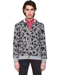 Marc Jacobs Washed Fleece Floral Print Sweatshirt - Lyst
