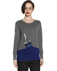 Markus Lupfer Work in Progress Sequined Wool Sweater - Lyst