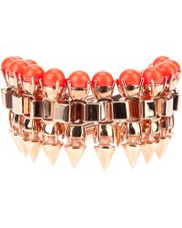 Mawi - Clawset and Neon Pearl Bracelet - Lyst