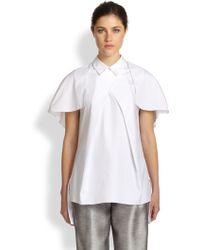 Prabal Gurung Cotton Capelet Shirt - Lyst
