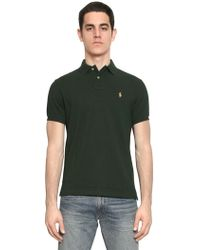 Ralph Lauren Blue Label - Custom Fit Cotton Piquet Logo Polo - Lyst