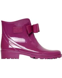 RED Valentino - 30mm Low Rubber Rain Boots - Lyst