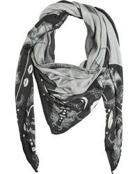 Tom Rebl - Printed Silk Modal Gauze Scarf - Lyst