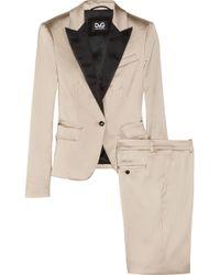Dolce & Gabbana - Satin Twopiece Pant Suit - Lyst