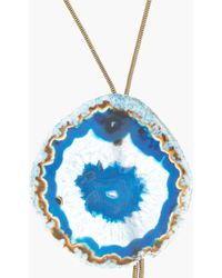 Lanvin - Snake Chain and Agate Bolo Tie - Lyst