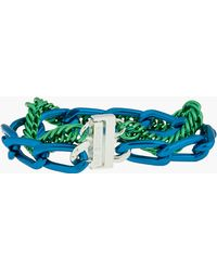 Raf Simons - Green and Blue Double Chain Bracelet - Lyst
