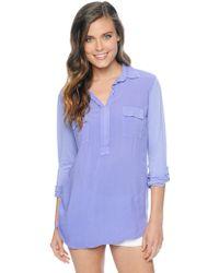 Splendid 34 Sleeve Shirting Top - Lyst