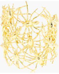 Tom Binns - Gold Nophobia Multi Spider Cuff - Lyst