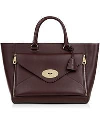Mulberry Willow Silky Calf Leather Tote - Lyst