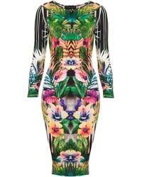 Topshop Petite Botanical Floral Dress - Lyst