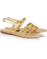 Stella McCartney Braided Faux Leather Sandals - Lyst